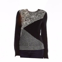 Chaps by Ralph Lauren Black Scoopneck Colorblock Luxe Long Sleeve Sweater Large - $49.99