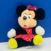 Walt Disney Plush Stuffed Animal disneyland world Minnie Mouse beanbag p... - $14.45