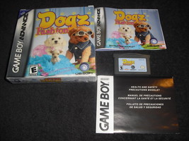 DOGZ FASHION Nintendo 2006 Game Boy Advance/GBA SP DS LITE ~ EUC - $9.89