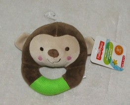 Fisher Price My Little Snugamonkey Stuffed Plush Circle Ring Rattle Gree... - $39.59