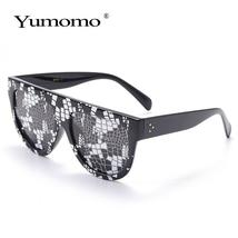 Sexy square sunglasses ladies fashion python pattern oversized sunglasses men an image 4