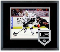 Dustin Brown L.A. Kings 2013-14 Playoffs - 11 x 14 Team Logo Matted/Framed Photo - $42.95