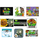 9 Plants Vs Zombies inspired Stickers, Party Supplies, Labels, Favors, G... - $8.99