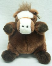 "Unipak NICE BROWN ROUND HORSE PONY 8"" Plush STUFFED ANIMAL Toy NEW - $16.34"