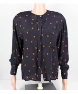 Christian Dior Separates women's vintage blouse long sleeve blue rayon s... - $46.40