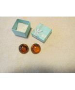 Lisner Vintage Lucite Clip On Earrings - $5.50