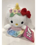 """NEW Hello Kitty Unicorn 6"""" Soft Plush With Red Bow A26F - $10.95"""