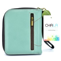 Chala Handbags Faux Leather Whimsical Cow & Butterfly Zip Around Wristlet Wallet image 2