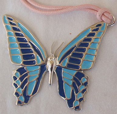 Turquoise butterfly pendant   a 2