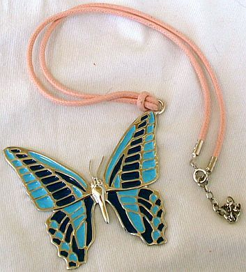 Turquoise butterfly pendant  A