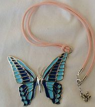 Turquoise butterfly pendant   a c thumb200
