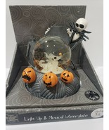 Nightmare Before Christmas LIGHT UP Jack Skeleton Zero MUSICAL Snow Globe  - $129.99