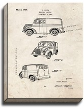 Delivery Vehicle Patent Print Old Look on Canvas - $39.95+
