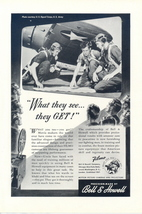1946 Bell & Howell Filmo camera equipment airman print ad - $10.00