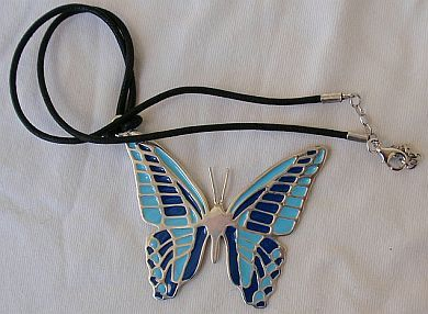 Turquoise butterfly pendant B