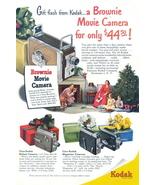 1951 Kodak Brownie Movie Camera Christmas gift print ad - $10.00