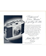 1955 Kodak Pony 135 vintage Camera half page print ad - $10.00