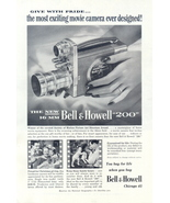 1954 Bell & Howell 200 16mm movie camera print ad - $10.00