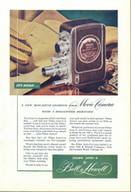 1947 Bell & Howell FILMO Auto-8 Movie Camera print ad - $10.00