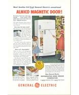 1950 GE Alnico Magnetic Door Refrigerator Freezer print ad - $10.00