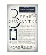 1931 GE General Electric All Steel Refrigerator print ad - $10.00