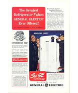 1940 GE G-E Conditioned Air Refrigerator print ad - $10.00