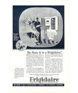 1928 Frigidaire Electric Refrigerator couple print ad - $10.00