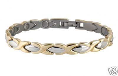 Sabona 332 Lady Exec Dress Gold Duet Magnetic Bracelet