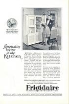 1927 Frigidaire Refrigerator Kitchen Hospitality print ad - $10.00