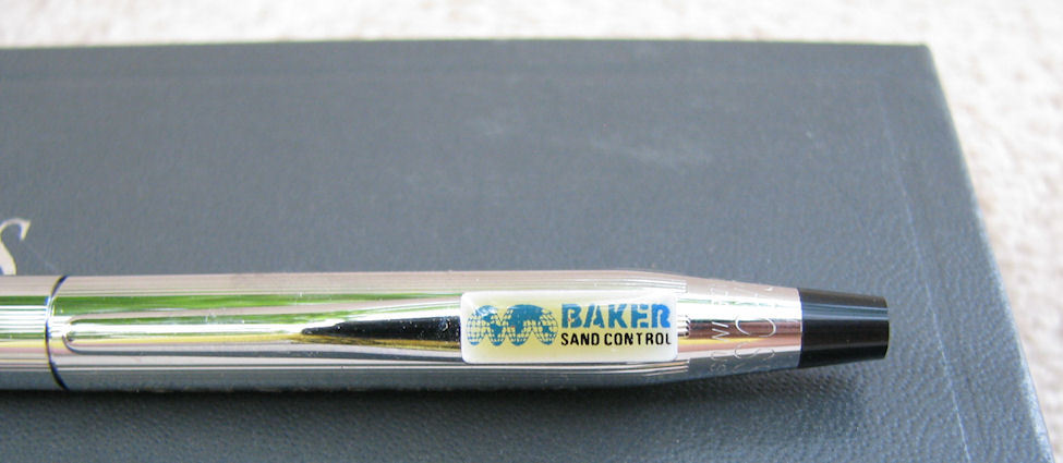 Cross Crhome Ball Point Pen 3502 1 Year Safe Driving Award Baker Sand Control