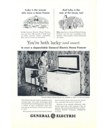 1948 GE Home Freezer lady stocking ice cream print ad - $10.00