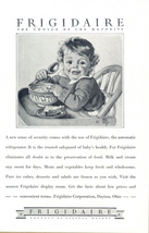 1928 Frigidaire Refrigerator Baby eating art print ad - $10.00