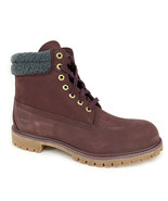 """Timberland Men's Premium 6"""" Inch Waterproof Burgundy Leather Boots A1ZK8 - $139.99"""