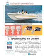 1967 Chrysler hydro vee 16' charger speed boat print ad - $10.00