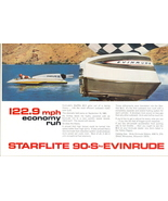1964 Evinrude Starflite 90-S Outboard Motor print ad - $10.00
