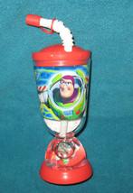 Walt Disney Toy Story  Buzz Lightyear Plastic Cup with straw BPA free. B... - $14.84