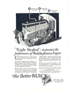 1926 Buick Triple Sealed Valve-in-Head engine print ad - $10.00