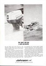 1967 Johnson Outboard Boat Motor V-100 print ad - $10.00
