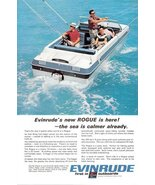1967 Evinrude Rogue gull wing hull outboard motor print ad - $10.00