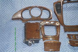 01-07 Toyota Highlander Woodgrain Dash Trim Kit Vents Console 8pc image 10
