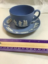 Wedgwood Vintage Blue And White Cup & Saucer - $37.74