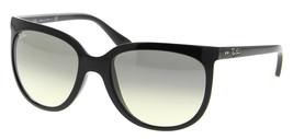 Ray Ban Sole Gatti 1000 RB 4126 601/32 Polished Black W/Grigio Gradiente... - $176.10