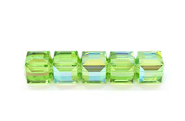4pcs - 6mm Swarovski Crystal Cube Beads #5600 - You Choose The Color image 11