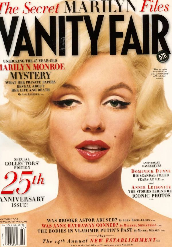 MARILYN MONROE October 2008 VANITY FAIR MAGAZINE