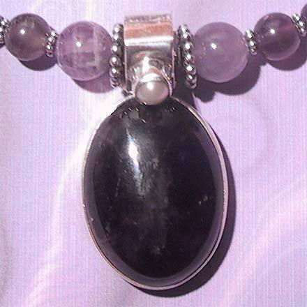 Sterling Silver Amethyst and Freshwater Pearl Necklace