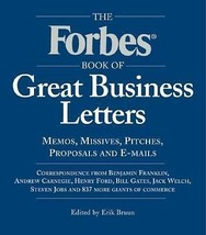 THE FORBES BOOK OF GREAT BUSINESS LETTERS Carnegie Henry Ford Steven Job... - $12.86