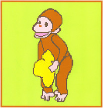 Curious George Crochet Graph Afghan Pattern - $5.00
