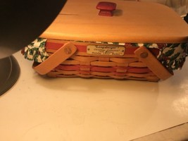Longenberger basket Holiday  Cheer Combo w/ Lid & Protector 1996 - $39.60