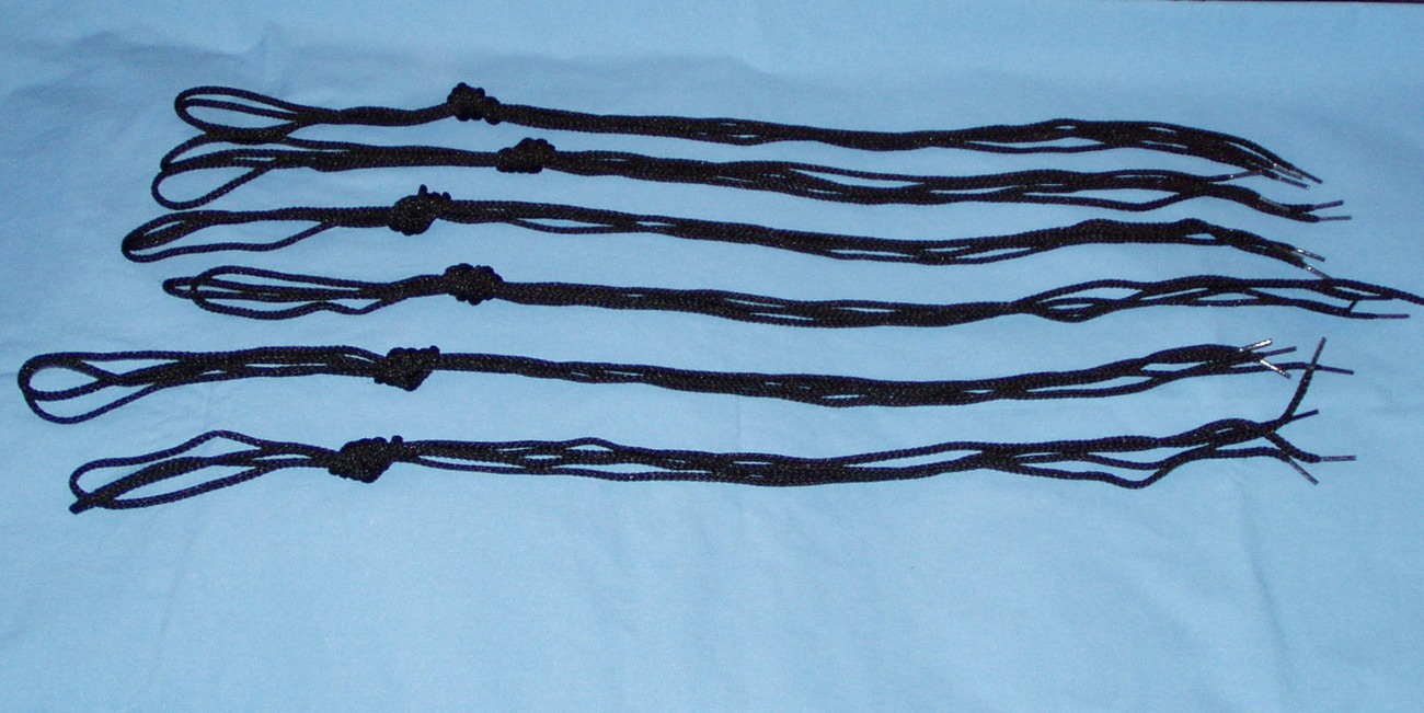 6 pair shoe laces, boot laces, workboot lace, draw string, 6