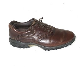 Footjoy Mens Size 8 Contour Brown Leather Softspike Golf Shoes 54049 - $33.60